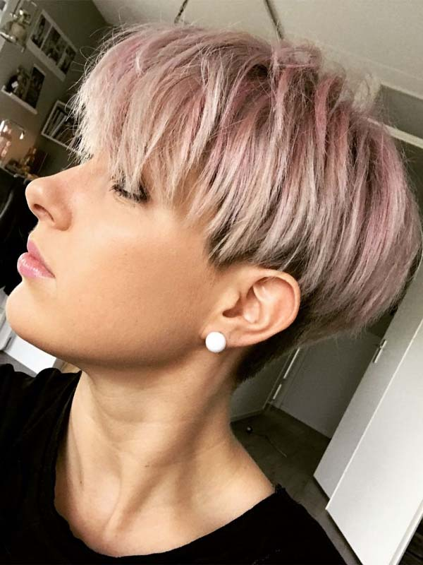 Gorgeous Pastel Pixie Haircuts & Hairstyles to Create in 2019