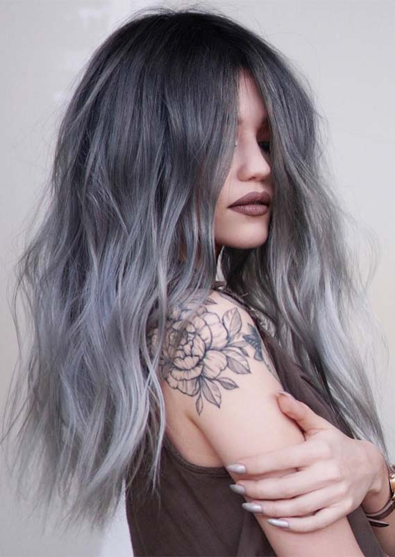 Gorgeous Grunge Long Shaggy Hairstyles Trends for 2019