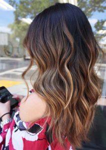 Long Caramel Waves Hair Styles for 2021