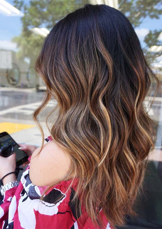 Awesome Long Caramel Waves Hair Styles for Girls in 2021