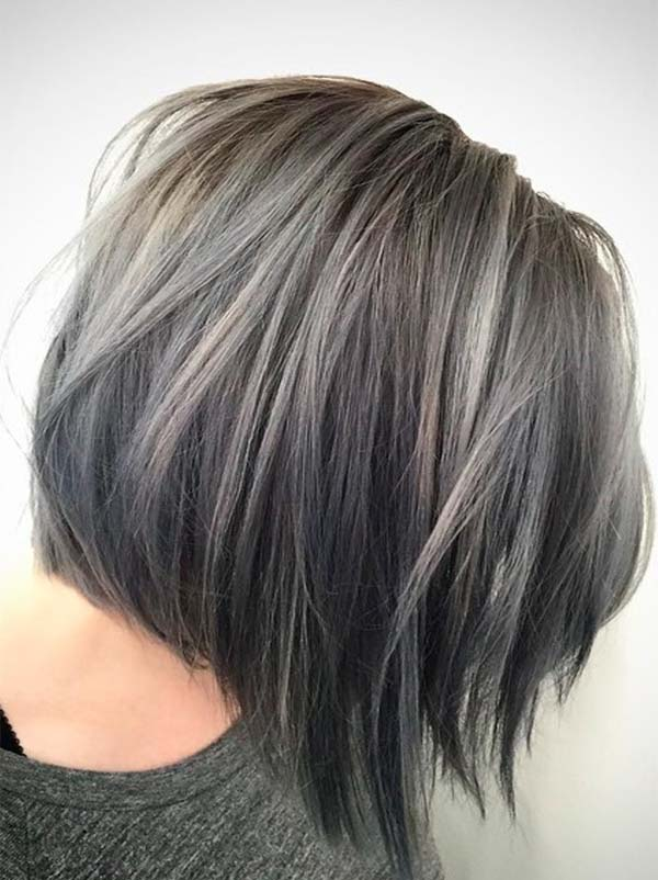 Lovely Haircuts for Grey Hair for More Interesting Look in 2019
