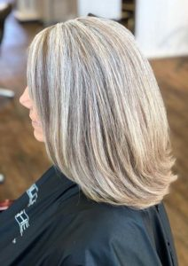 Perfect grey blending hair color trends for 2021