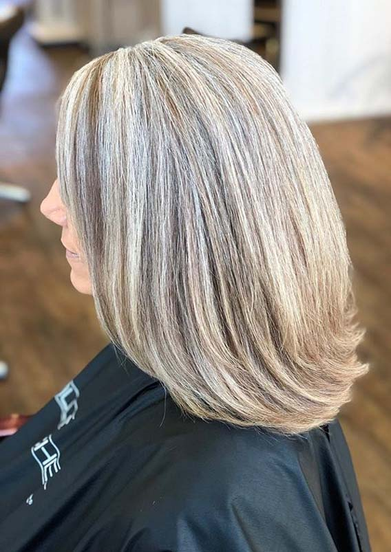 Perfect Grey Blending Hair Color Trends for Girls in 2019