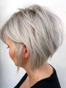 Textured blonde bob for women 2019