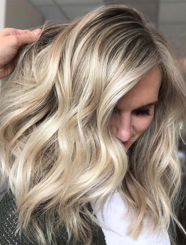 Delightful Blonde Balayage Hair Colors Combo for 2019
