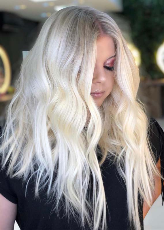 Brightest Platinum Blonde Hair Colors for Long Hair in 2021