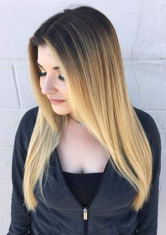 Cutest Shades Of Balayage Hair Colors for Long Hair in 2019