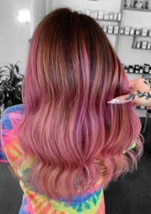 Gorgeous Ideas Of Pink Balayage Hair Color Shades for 2019