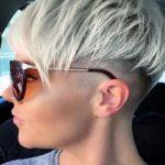 Platinum Blonde Undercut Pixie Haircuts for 2021