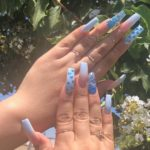Acrylic Blue Nail Art Designs for Fashionable Girls in 2021