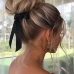 Bun Styles with Balayage Colors for Women 2019