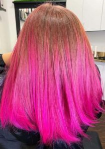 Neon Barbie Pink Hair Color Shades in Year 2019