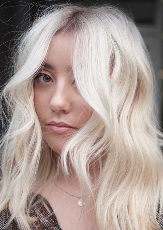 Modern Platinum Blonde Hair Color Shades to Show Off Right Now