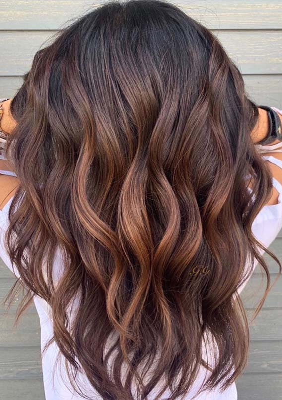 Adorable Brunette Balayage Hair Color Trends for Women 2019