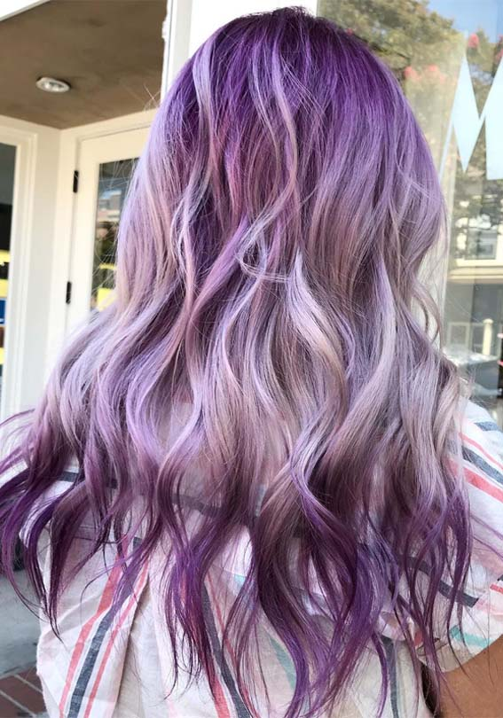 Awesome Purple Hair Color Trends for Ladies to Try in 2019