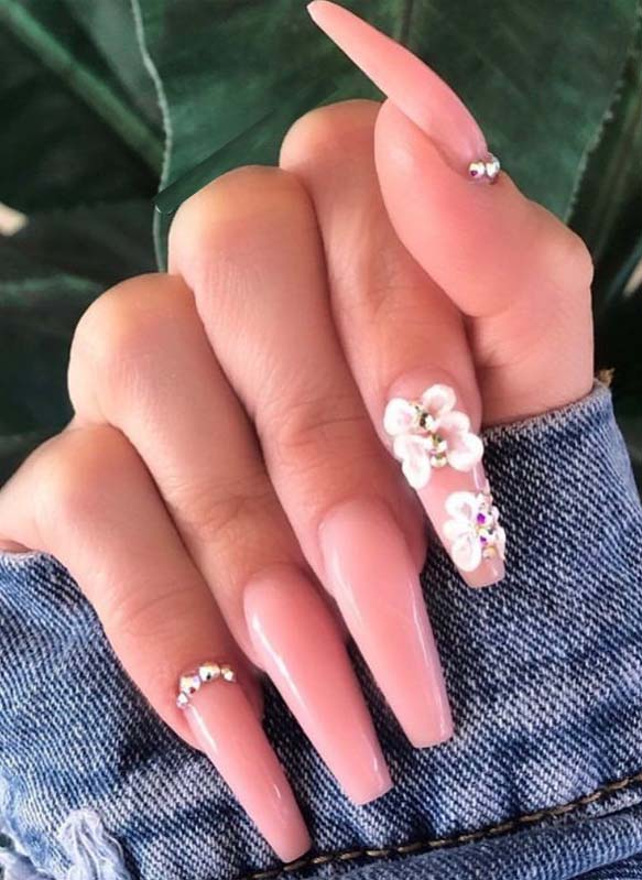 Awesome Pink Acrylic Nail Article Designs for Women 2019