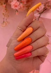 Cutest Peach Nail Arts and Designs for Women 2019