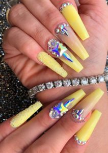 Long Nail Art Designs with Pearls to show off right now