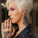 Platinum Short Pixie Blonde Haircuts for Women 2019
