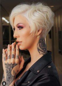 Platinum Short Pixie Blonde Haircuts for Women 2019