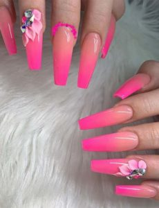 Pretty Pink Nail Art Designs for Women in 2019