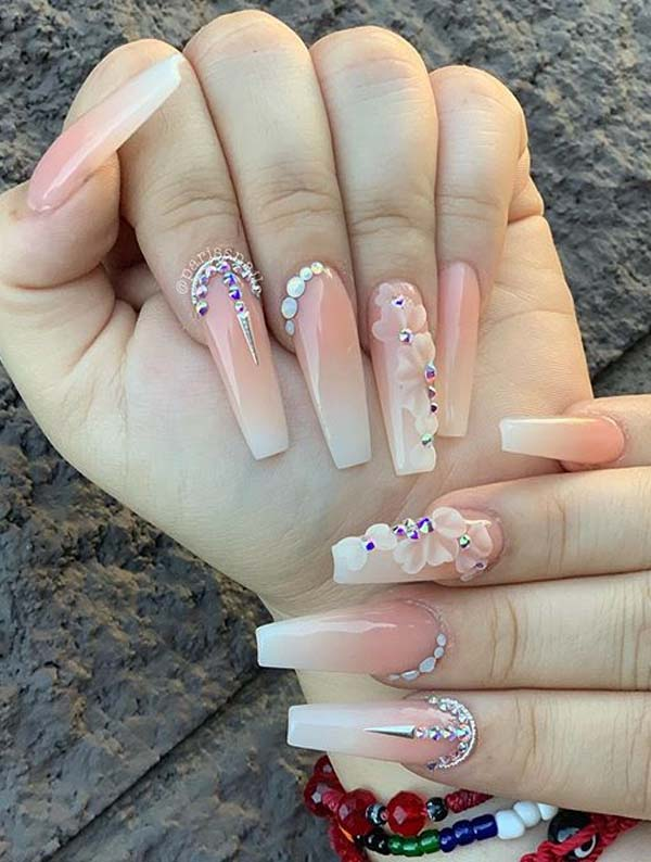 Most Beautiful Long Nail Art Designs for Women in 2021