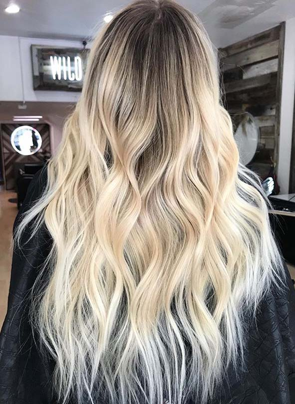 Awesome Rooted Blonde Hair Color Shades for Long Locks in 2019