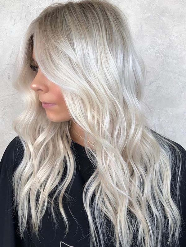 Stunning Icy Blonde Hair Colors for Long Hair to Try in 2021