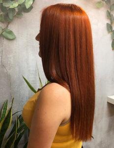 Vibrant copper hair colors for long sleek hair looks in 2021