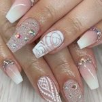 pink and white nail art designs for women in 2019