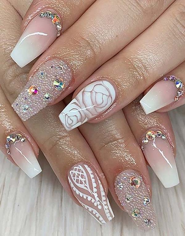 Adorable Pink and White Nail Art Designs for Women in 2021