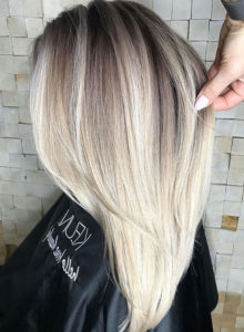 Blonde Shades with Dark Roots for Women in 2019