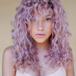 Long Shag Curly Hairstyles with Purple Shades for Women 2019