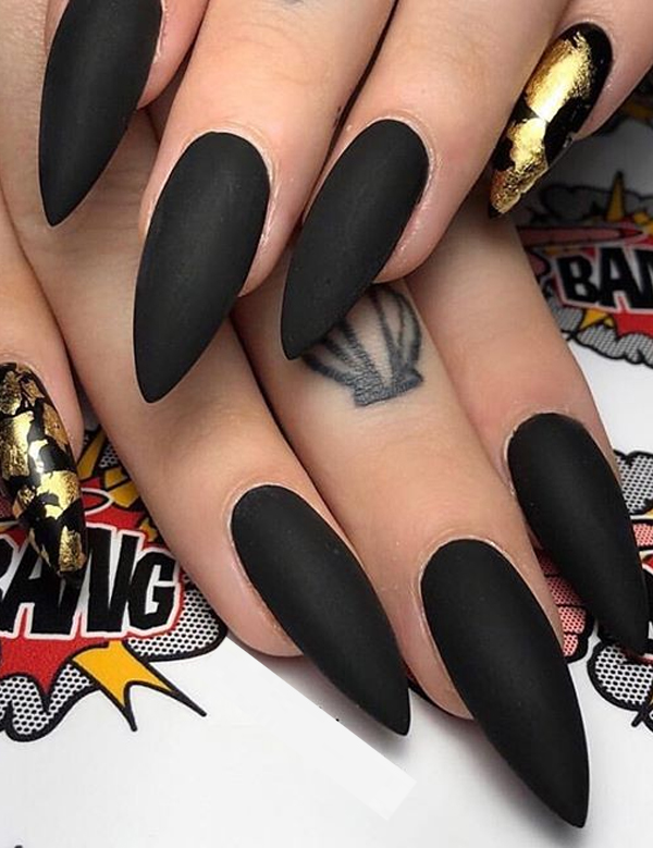Most Amazing Black Nail Art Designs for Women in 2019