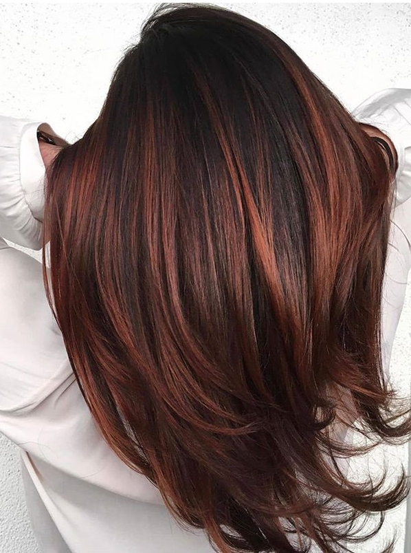 Perfect Red Hair Highlights for Fall Autumn Season in 2019