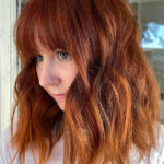 Red Copper Hair Colors and Hairstyles with Bangs in 2021