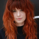 Redhead Long Locks with Bangs to Create in 2021