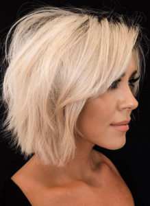 Short Bob Haircuts with Blonde Shades for Women 2019