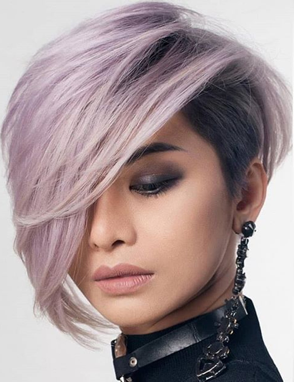 Best Undercut Short Haircuts with Side Bangs for Women in 2019