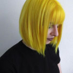 Unique Yellow Short Bob Haircuts with Bangs in 2019