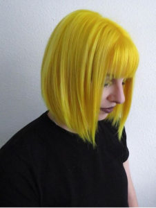 Unique Yellow Short Bob Haircuts with Bangs in 2021