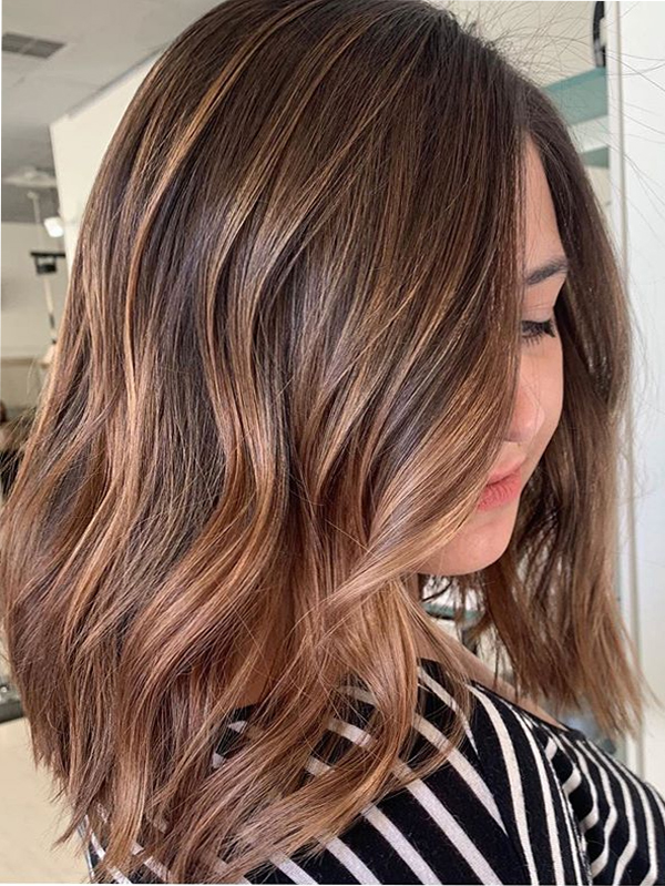 Warm Balayage Hair Color Shades for Women to Show Off in 2021
