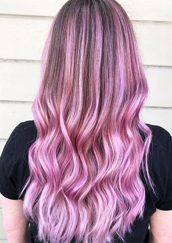Marvelous Shades Of Pink with Dark Roots for Women in 2020