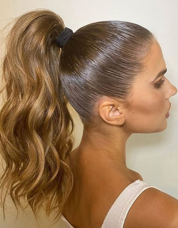 Seamless Chestnut Brown Highlights for High Ponytails in 2020