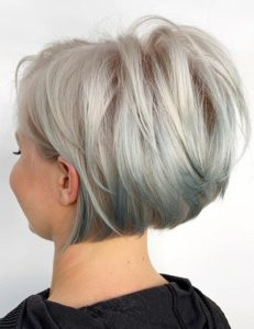Trendy Short Bob Haircut Styles with Blonde Colors in 2021