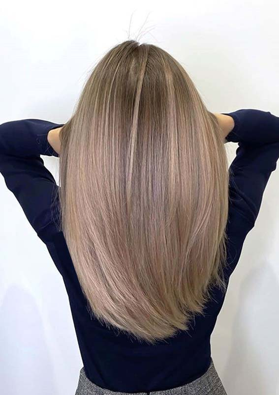 Elegant Long Straight Balayage Hairstyles to Wear in 2021