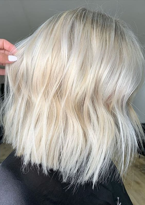 Latest Platinum Blonde Hair Colors and Hairstyles for Women in 2020