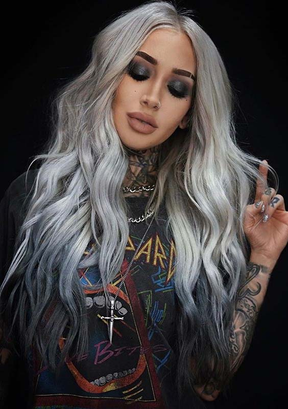 Latest Silver Blonde Hair Color Ideas for Women in 2020