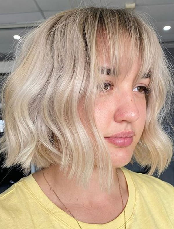 Best Short Blonde Haircuts with Bangs for Women in 2020