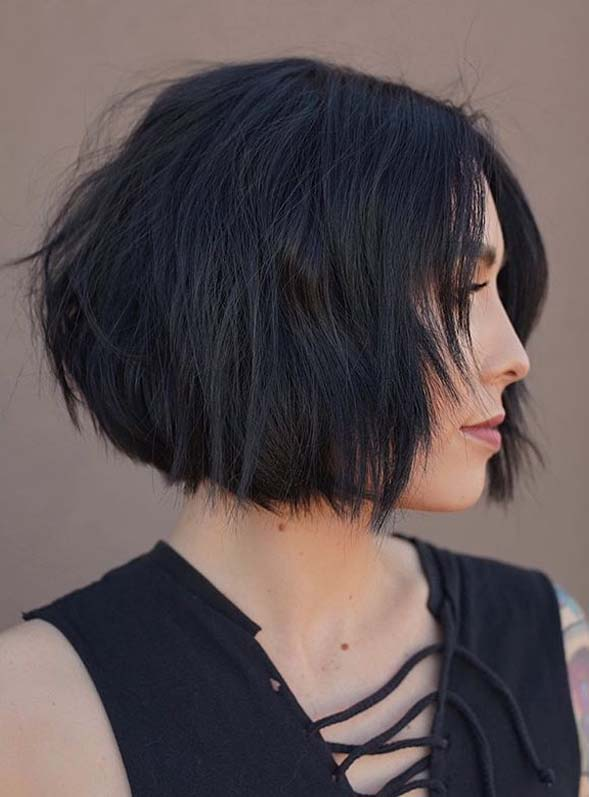 Aweosome Short Textured Bob Cuts to Create in Year 2020
